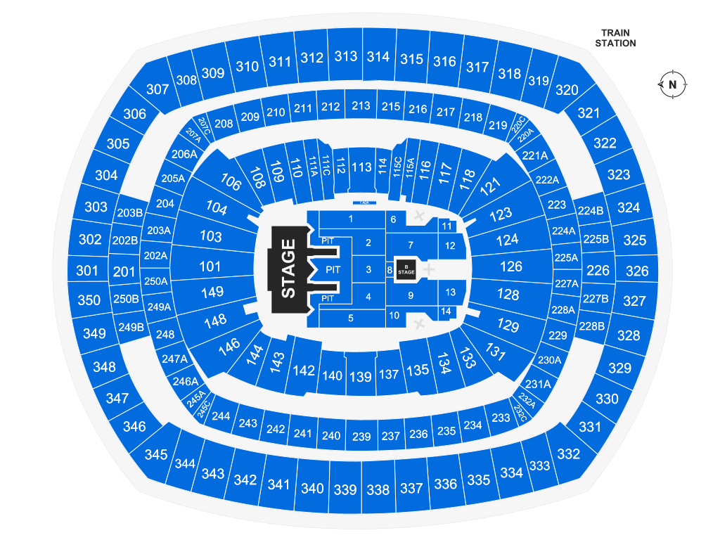 Metlife Stadium East Rutherford Tickets Schedule Seating Chart Directions