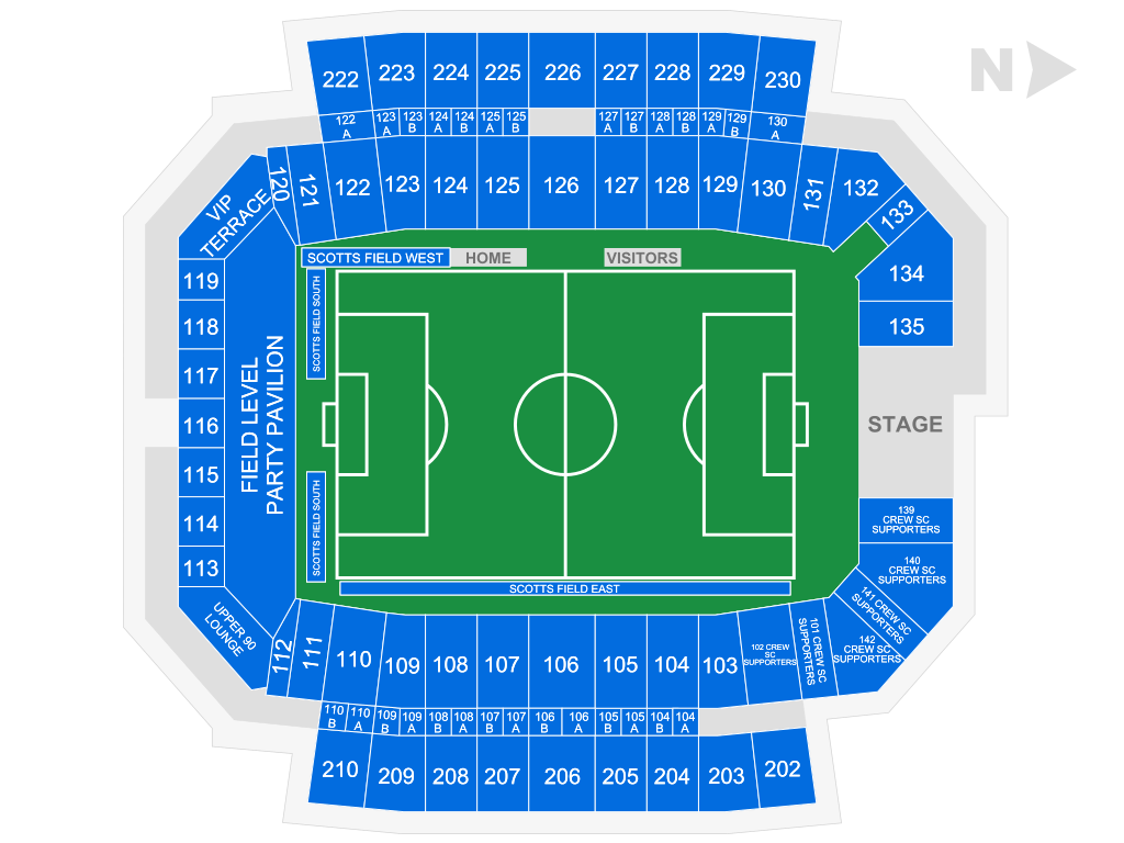 Columbus Crew SC Seating Chart