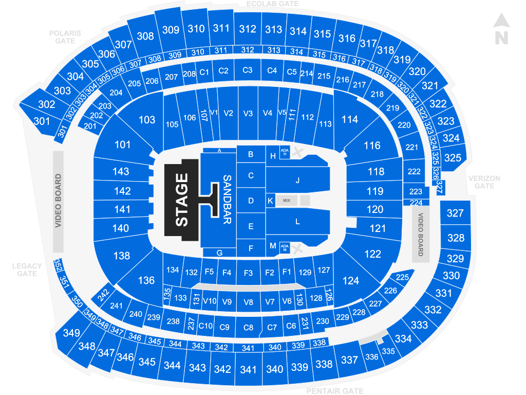 Us Bank Seat Map U.S. Bank Stadium   Minneapolis | Tickets, Schedule, Seating Chart