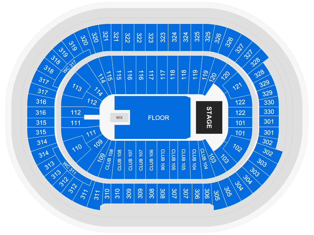 Ozzy Osbourne: No More Tours 2, seat map